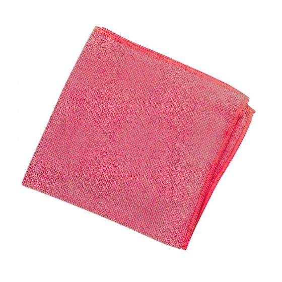 SYR Lightweight Lint Free Microfibre Cleaning Cloth Red