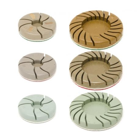 Flash 3 Step Polishing System Diamond Abrasive Hybrid Set of 9 Hook And Loop For Marble Terrazzo And Concrete